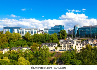 Modern part of downtown Luxembourg