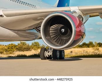 Modern passenger aircraft jet engine