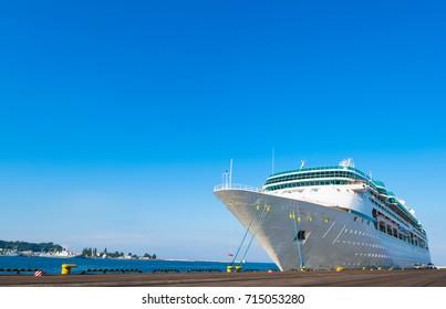 Modern passenger cruise ship