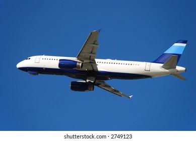Modern passenger jet taking off (Airbus A-320)