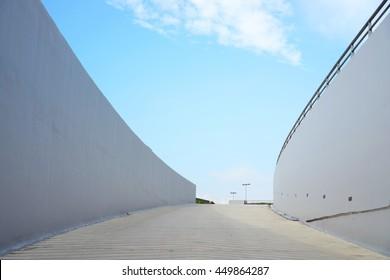 modern pavement walkway