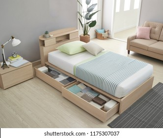 Modern peaceful Bedroom. modern style bedroom. Peaceful and serene bedroom. Single led bed for kids.