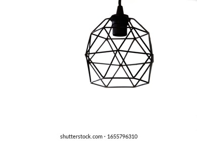 modern pendant light with vintage light bulb.