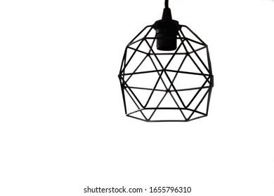 modern pendant light with vintage light bulb. - Shutterstock ID 1655796310