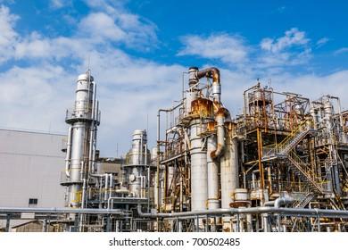 modern petrochemical plant.
