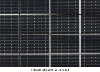 Modern photovoltaic solar panels as a background