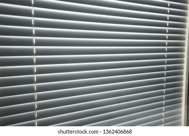 Modern plastic closed Shutter Jalousie in a room