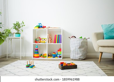 Modern playroom for children with perfect order
