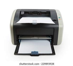 Modern printer isolated on white background