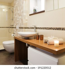 Modern private bathroom interior