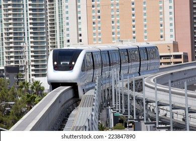 Modern public transportation with an electric monorail train system