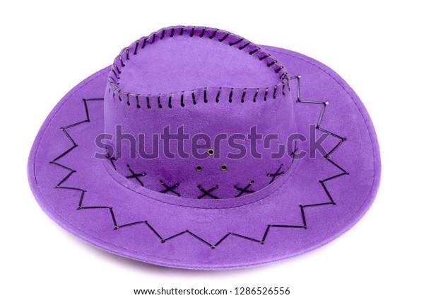 Modern Purple Violet American Cowboy Hat Stock Photo (Edit