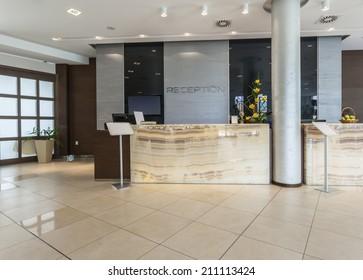 Modern reception area