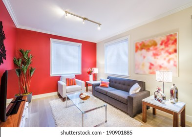Red Living Room Images, Stock Photos & Vectors | Shutterstock