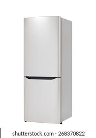 Modern refrigerator isolated on white background