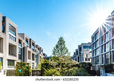 modern residential architecture in Berlin in summer