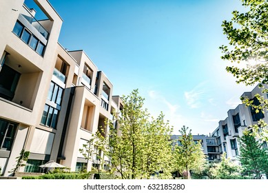modern residential architecture in Berlin in summer