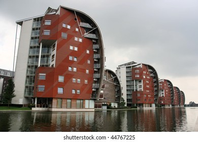 Modern residential architecture in 's-Hertogenbosch (Den Bosch), city in the Netherlands, Europe.