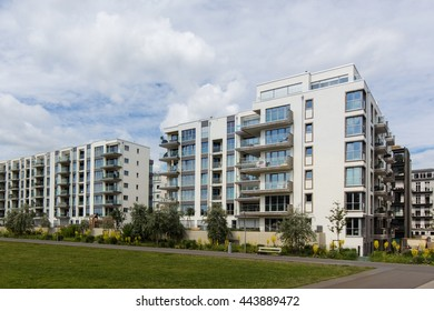 modern residential building complex - apartment house