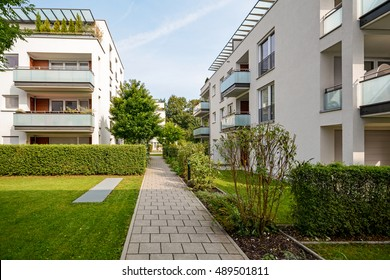 Modern residential buildings, apartments in a new urban housing