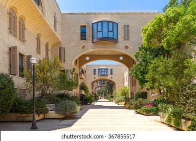 Modern residential complex in Mamilla Kfar David neighborhood in Jerusalem, Israel.