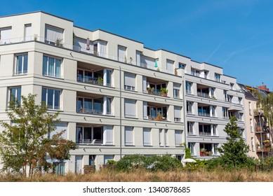 Modern residential house seen in Berlin, Germany