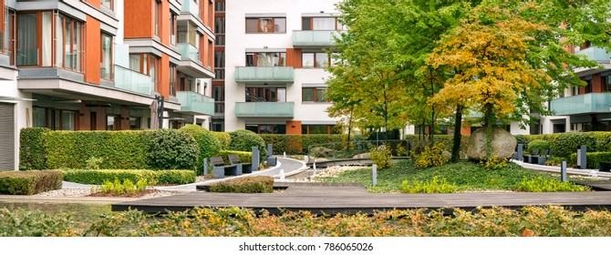Modern Residential Housing, Urban Living with Shared Garden, Beautiful Greenery, ZEN