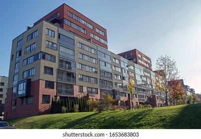 Modern residential quarter of Vilnius, Lithuania