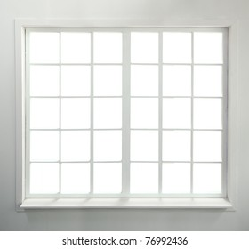 Modern residential window (includes clipping path)