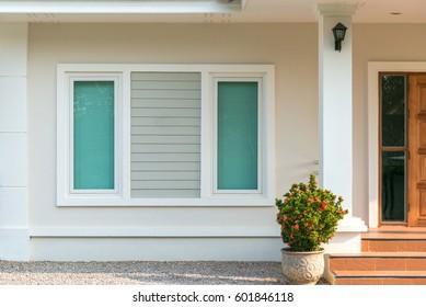 Modern residential window interior