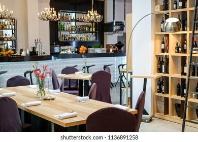 modern restaurant interor