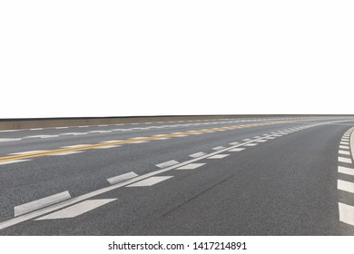 modern road surface isolated on white with clipping path