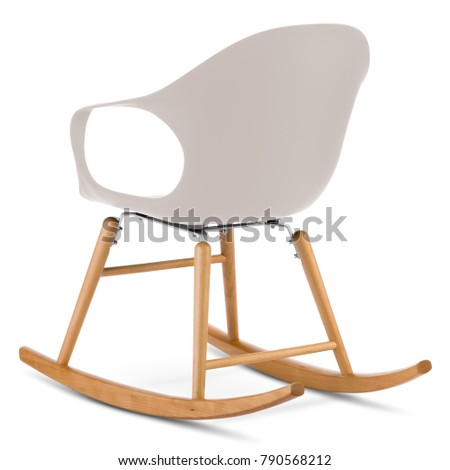 Remarkable Modern Rocking Chair Isolated On White Stock Photo Edit Now Bralicious Painted Fabric Chair Ideas Braliciousco