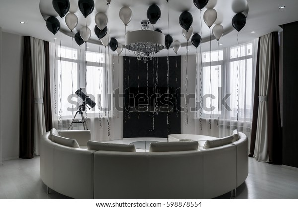 Fabulous Modern Room Flat Two Large Windows Stock Photo Edit Now Uwap Interior Chair Design Uwaporg