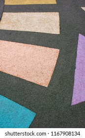 Modern rubber floor covering for playgrounds on the street and for sports stadiums