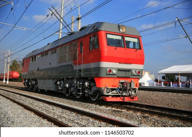 modern Russian locomotive