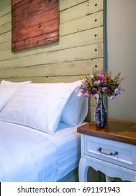 Modern rustic Bedroom interior design & decoration concept