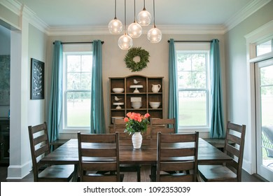 Modern Rustic Farmhouse Style Wood Dining Room
