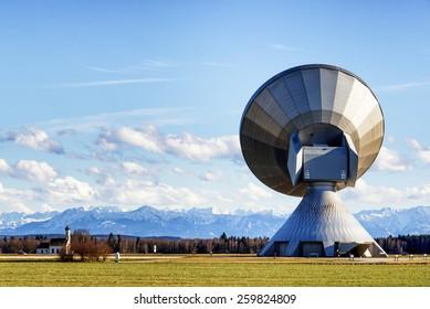 modern satellite dish - radio telescope