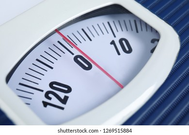 Modern scales, closeup view. Diet and weight loss