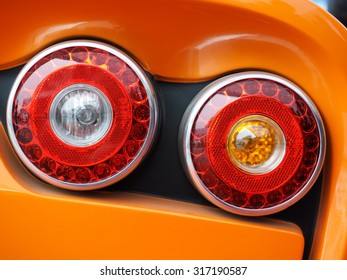 modern science and technology of manufacturing high-performance family car taillight image close-up