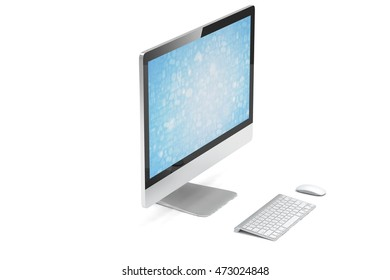 Modern Screen Monitor. 3d rendering.