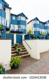 Modern seaside coastal houses and apartments in Exmouth marina, Devon, England, UK