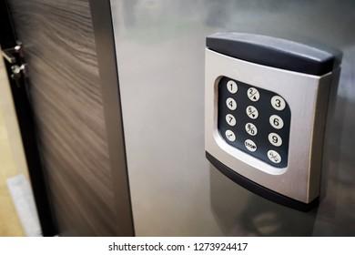 Modern security door code number