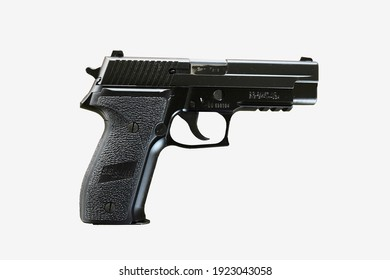 Modern semi-automatic pistol USES a mag to hold the bullet. It has replaced the revolver at its use on modern military and police. A semi-automatic gun has a large bullet space capacity,