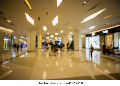 Modern Shopping mall interior abstract blur background