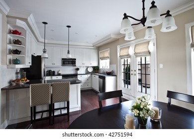 Modern showcase interior kitchen and dinette