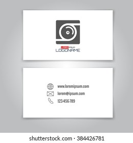 Modern simple business card template camera stock illustration modern simple business card template with camera conceptual logo card design business card template wajeb Gallery
