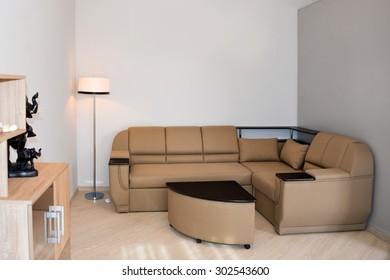 Modern, simple interior design in light apartments