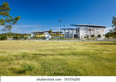 The modern Sir Vivian Richards Cricket Stadium in Antigua which was used for the cricket world cup in 2007.